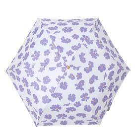 完全遮光 日傘 UV遮蔽率100%・遮光率100% 晴雨兼用 折りたたみ花柄傘 プレゼント (FPURPLE)