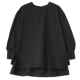 バックティアードプルオーバーシャツ (ブラック)