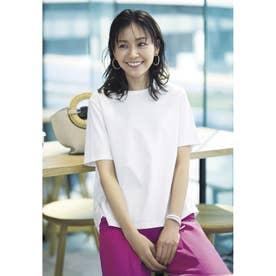 サイドプリーツTシャツ (ホワイト)