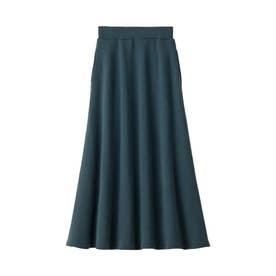 【蓄熱保温】裏ファーマキシ丈フレアースカート (ブルーグリーン)