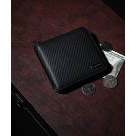 カーボン 二つ折りZIP財布 (BLK)