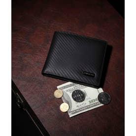 カーボン 二つ折り財布 (BLK)