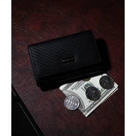 カーボン 札入れ付き三つ折りキーケース (BLK)
