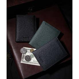 タイガー生地ホック付き二つ折財布 (NVY)