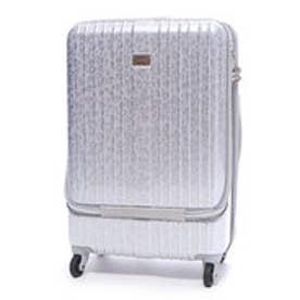 フロントポケット付きハードキャリーL(スーツケース) (シルバー)