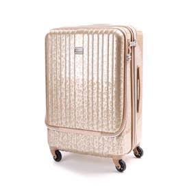 フロントポケット付きハードキャリーL(スーツケース) (ゴールド)