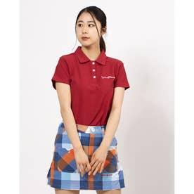 アメリカンデニムカノコ 半袖シャツ (レッド 064)