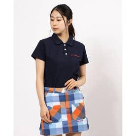 アメリカンデニムカノコ 半袖シャツ (ネイビー 098)