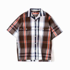 ヴィタル ムッシュ ニコル vital MONSIEUR NICOLE マドラスチェック半袖シャツ (67ネイビー)