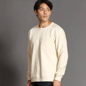 袖切り替えスウェット (09ホワイト)