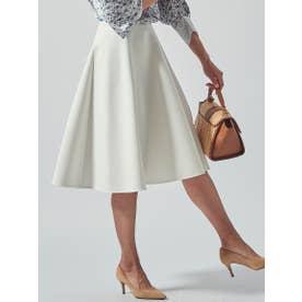 【WEB別注カラーあり】スプリングサーキュラースカート (ホワイト)