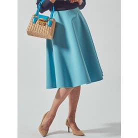 【大きいサイズ】スプリングサーキュラースカート (ブルー)