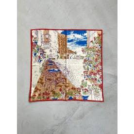 ≪MANIPURI≫コルトバシルクスカーフ (ブルー)