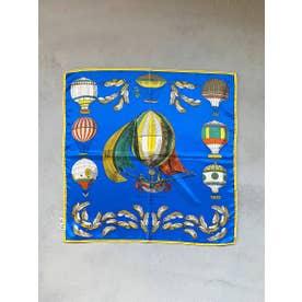 ≪MANIPURI≫クラシックバルーンスカーフ (ブルー)