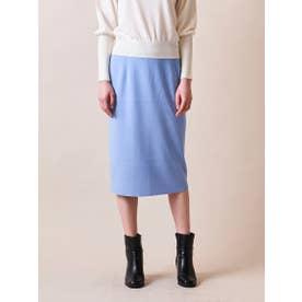 【大きいサイズ】14G総針ボタン使いタイトスカート≪SET UP対応≫ (ブルー)