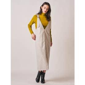 トルコヤーンツイードサロペットスカート (オフホワイト)