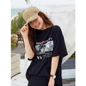 Photo Tシャツ《手洗い可能》 (ブラック)