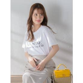 ロゴTシャツ《手洗い可能》 (ホワイト系その他)