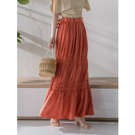 シャカシャカシャーリングスカート《洗濯機で洗える》 (オレンジ)