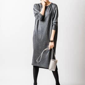 ジンジャーナーシングニットドレス (チャコールグレー)