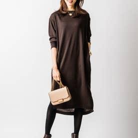 ジンジャーナーシングニットドレス (ブラウン)