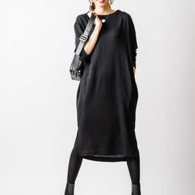 ジンジャーナーシングニットドレス (ブラック)