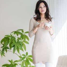 長袖ホットインナー/ドレス丈 (ヌードベージュ)
