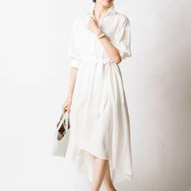 カトリーナシャツドレス (パールホワイト)