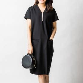 イネスパールナーシングドレス(半袖) (ブラック)
