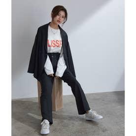 【vis-`a-vis】コスパ抜群!ゆるジャケット&フレアパンツセットアップ【洗濯機洗い可】 (ブラック(01))