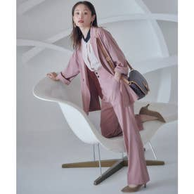 【vis-`a-vis】コスパ抜群!ゆるジャケット&フレアパンツセットアップ【洗濯機洗い可】 (ピンク(63))