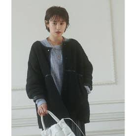 【vis-`a-vis】合皮&ボアのリバーシブルブルゾン (ブラック(01))