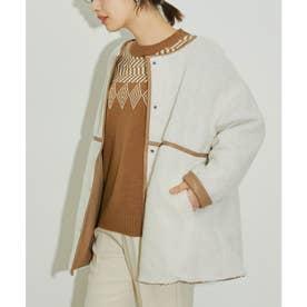 【vis-`a-vis】合皮&ボアのリバーシブルブルゾン (キナリ(16))