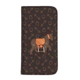 ハーネスホース iphonecase 12 手帳タイプ (ブラウン×ライトブラウン)
