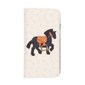 ハーネスホース iphonecase 7/8/SE2 手帳タイプ (アイボリー×ダークネイビー)