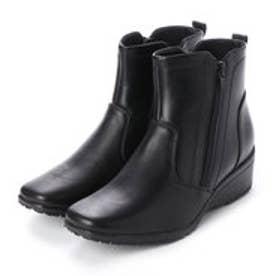 ◇ワークストラベラーWarkstraveler 足軽ダブルファスナー付きショートブーツ (ブラック)