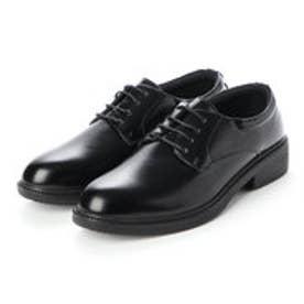 ビジネスシューズ メンズ 軽量幅広 プレーントゥ ストレート 紳士靴 (BLACK)