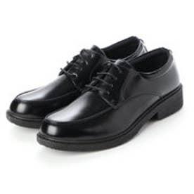 ビジネスシューズ メンズ 軽量幅広 Uモカ 紳士靴 (BLACK)