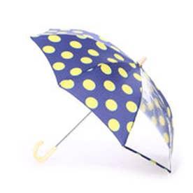 キッズ雨傘 ムーンドットネイビー45