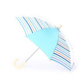 キッズ雨傘 マルチボーダーグリーン40