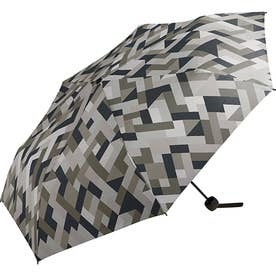 ワールドパーティー MSM MEN umbrella MINI 紳士用折りたたみ傘 (ジオメトリーグレー)