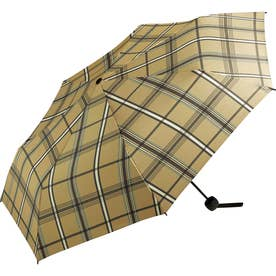 ワールドパーティー MSM MEN umbrella MINI 紳士用折りたたみ傘 (ブラウンチェック)