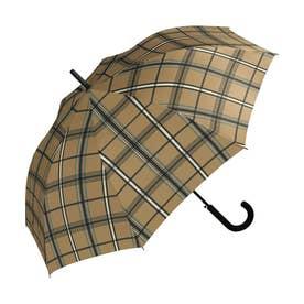 雨傘 UNISEX ベーシックジャンプアンブレラ (ブラウンチェック)