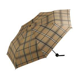 雨傘 UNISEX ベーシックフォールディングアンブレラ (ブラウンチェック)