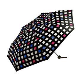雨傘 UNISEX ベーシックフォールディングアンブレラ (コントラストチェック)