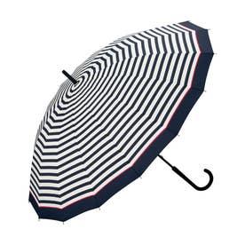 雨傘 UNISEX 16K UMBRELLA (ピンクラインボーダー)