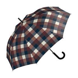 雨傘 UNISEX ベーシックジャンプアンブレラ (ワインチェック)