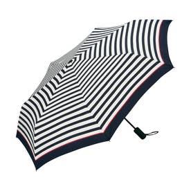 雨傘 UNISEX ASCフォールディングアンブレラ (ピンクラインボーダー)