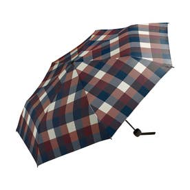 雨傘 UNISEX ベーシックフォールディングアンブレラ (ワインチェック)