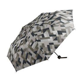 雨傘 UNISEX ベーシックフォールディングアンブレラ (ジオメトリーグレー)